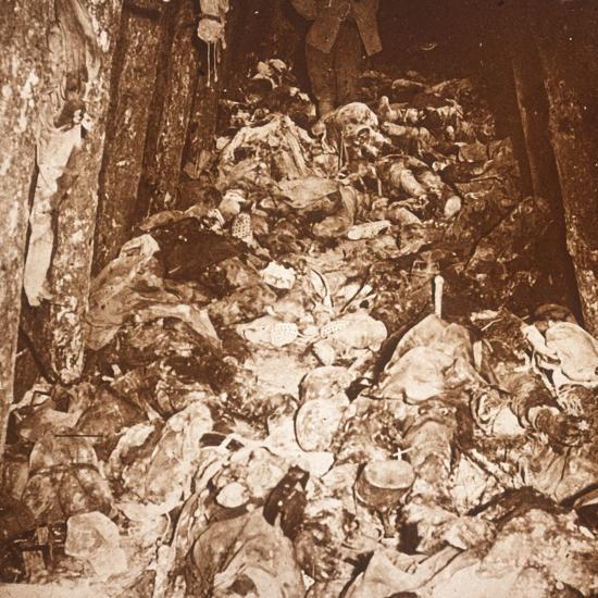 Bodies in tunnels under Mount Cornillet, Champagne, northern France, c1917-Unknown-Photographic Print