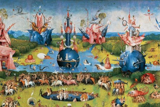 Bodies of Christian Martyrs Brought by the Angels-Hieronymus Bosch-Giclee Print