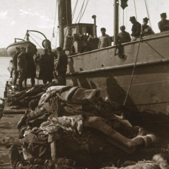 Bodies of typhus victims, Corfu, Greece, c1915-Unknown-Photographic Print