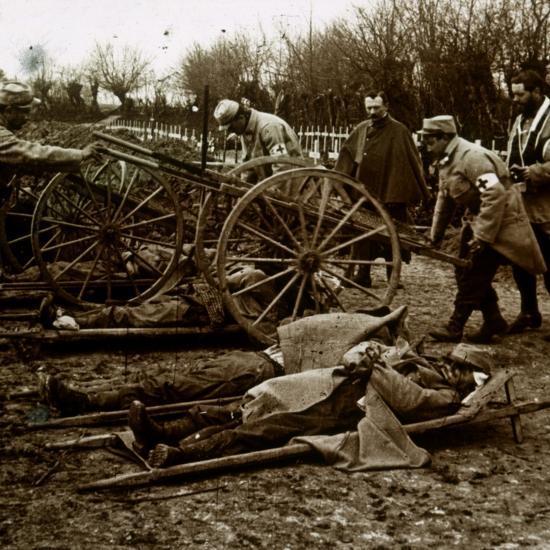 Bodies, Villers-au-Bois, northern France, c1914-c1918-Unknown-Photographic Print