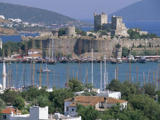 Bodrum and Bodrum Castle, Anatolia, Turkey-J Lightfoot-Photographic Print