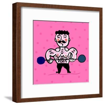 Body Building-Dmitriip-Framed Art Print