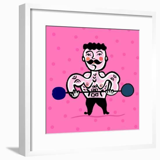 Body Building-Dmitriip-Framed Premium Giclee Print