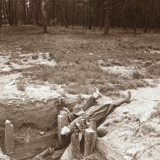 Body of dead soldier, Argonne, northern France, c1914-c1918-Unknown-Photographic Print