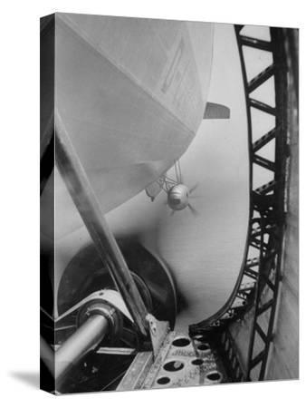 """Body of Zeppelin Airship """"Hindenburg"""" Viewed from the Motor Gondola"""