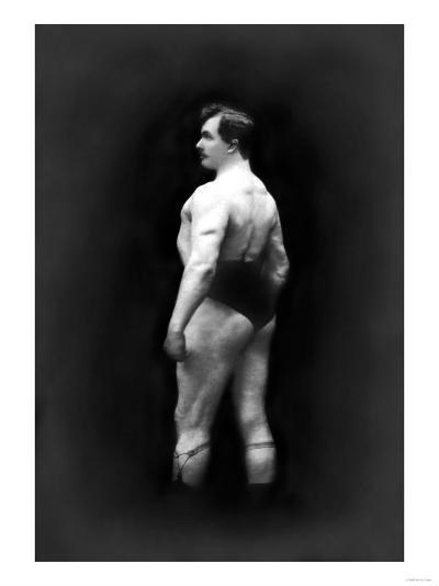 Bodybuilder's Back and Partial Left Profile--Art Print