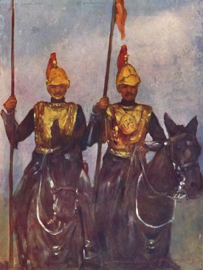 'Bodyguard of His Highness Dogra Sowar Kashmir', 1903-Mortimer L Menpes-Giclee Print
