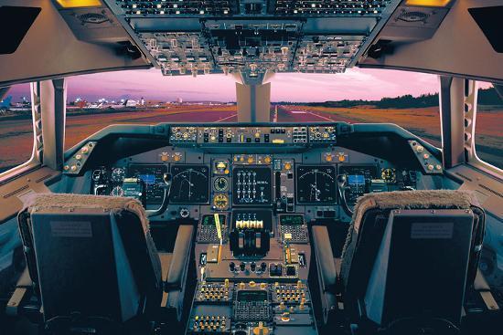 Boeing 747-400 Flight Deck-Unknown-Art Print
