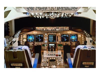 Boeing 747 digital Flight Deck--Art Print