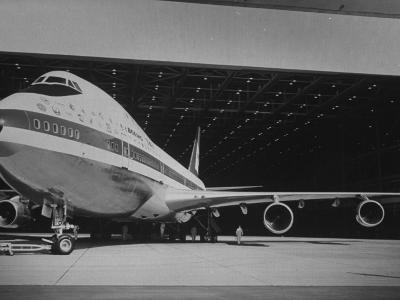 Boeing 747, the World's Largest and Fastest Jetliner at the Boeing Manufacturing Plant--Photographic Print