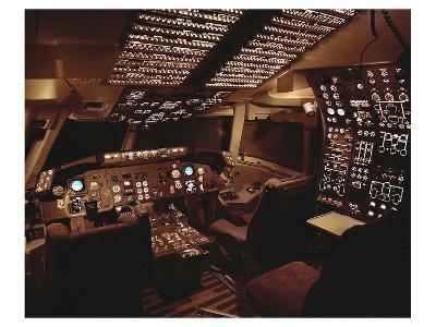 Boeing 767 Flight Deck lighting--Art Print
