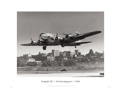 Boeing B-307 on Final Approach, 1940--Giclee Print