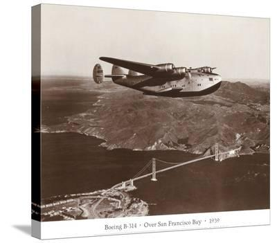 Boeing B-314 over San Francisco Bay, California 1939-Clyde Sunderland-Stretched Canvas Print