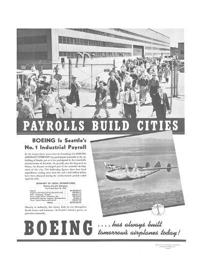Boeing Industrial Payroll--Art Print