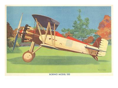 Boeing Model 100 Airplane--Art Print