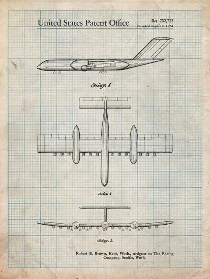 Boeing RC-1 Airplane Concept Patent-Cole Borders-Art Print