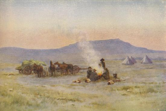 'Boer Camp on the Veldt', 1924-Unknown-Giclee Print