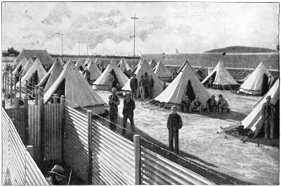 Boer Prisoners in a Camp at Bloemfontein, 2nd Boer War, 1899-1902--Giclee Print