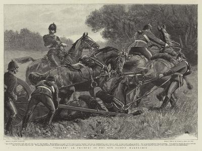Bogged, an Incident in the New Forest Manoeuvres-John Charlton-Giclee Print