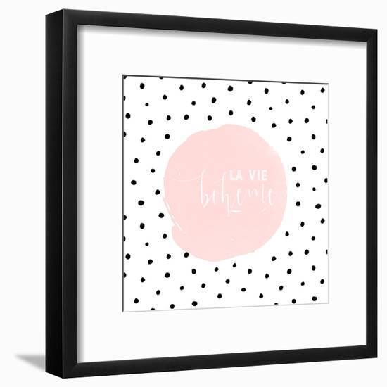 Boheme-Typography Dots Illustration Shabby-Grab My Art-Framed Art Print