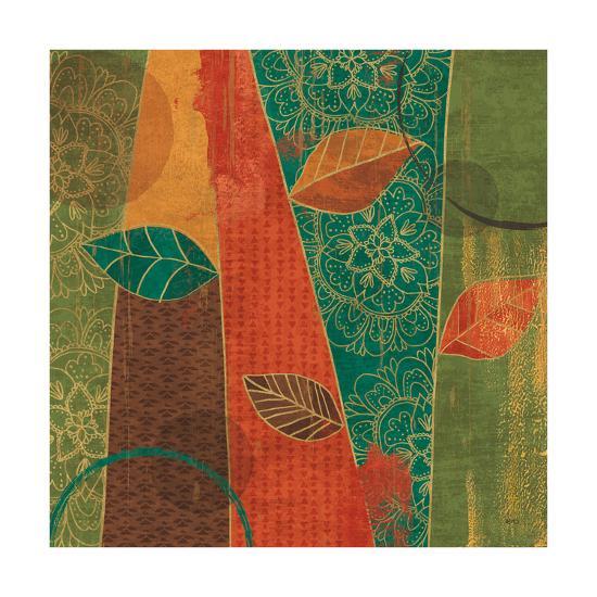 Bohemian Leaves II-Veronique Charron-Art Print
