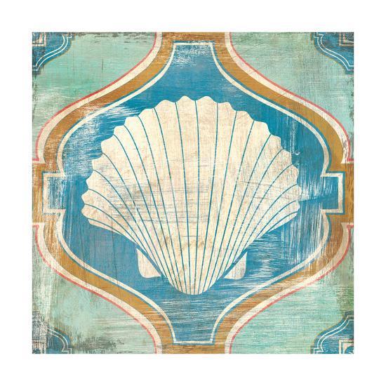 Bohemian Sea Tiles II-Cleonique Hilsaca-Art Print