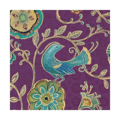 Bohemian Wings IX Aubergine-Daphne Brissonnet-Art Print