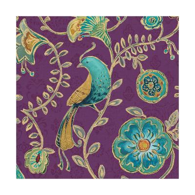 Bohemian Wings VIII Aubergine-Daphne Brissonnet-Art Print