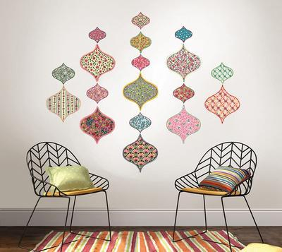 Boho Chic Ogee Wall Art Kit & Beautiful Abstract Wall Decals artwork for sale Posters and Prints ...