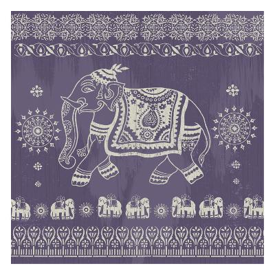 Boho Elephant Purple-Ophelia & Co.-Art Print