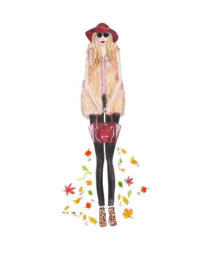 Boho Fall- Alison B Illustrations-Art Print