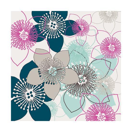 Boho Floral Collection II-Nicole Ketchum-Art Print