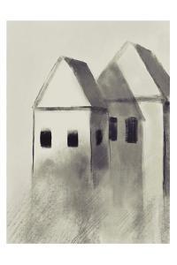 Charcoal Houses 1 by Boho Hue Studio