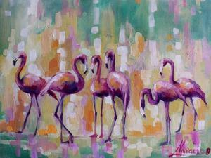 Flamingo Rondevu 1 by Boho Hue Studio