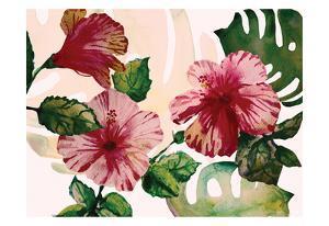 Tropical Hibiscus 2 by Boho Hue Studio