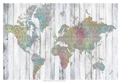 Boho Map II-Jennifer Goldberger-Art Print
