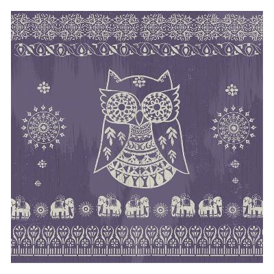 Boho Owl Purple- Ophelia & Co.-Art Print