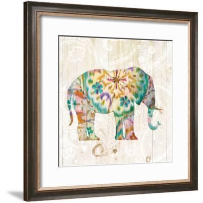 Boho Paisley Elephant I-Danhui Nai-Framed Art Print