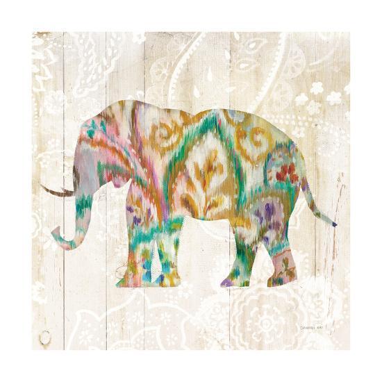 Boho Paisley Elephant II v2-Danhui Nai-Art Print