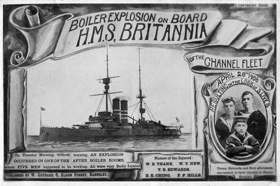 Boiler Explosion on Board HMS 'Britannia, 28th April 1908--Giclee Print