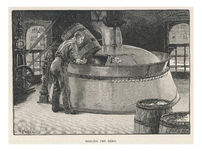 Boiling the Beer in an American Brewery--Giclee Print