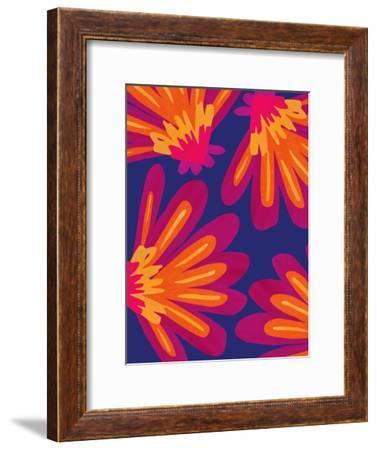 Bold Folk Floral-Modern Tropical-Framed Art Print