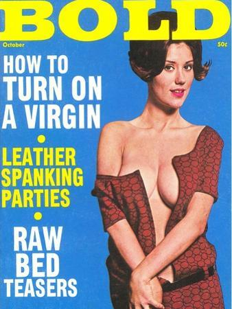 Bold, Lurid Magazine Cover with Cheesecake