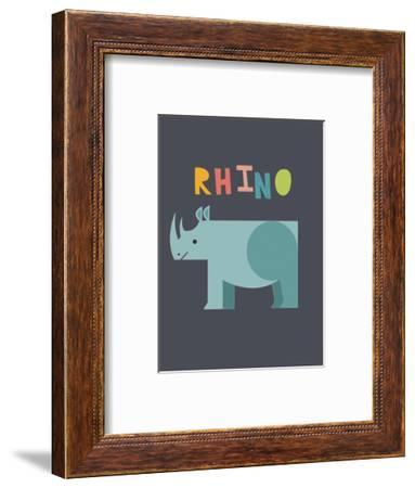 Bold Rhino-Kindred Sol Collective-Framed Art Print