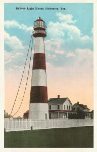 Bolivar Lighthouse, Galveston, Texas