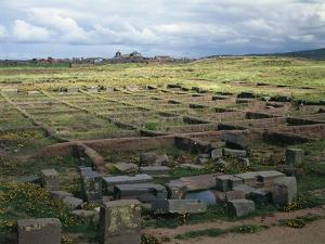 Bolivia, Ingavi Province, La Paz Department, Tiwanaku, Palacio De Los Sarcofagos