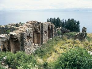 Bolivia, Lake Titicaca, Island of Moon, Temple of Virgins of the Sun