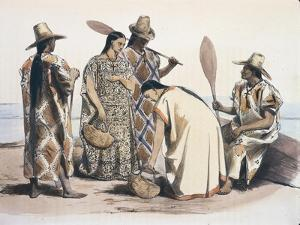 Bolivia, Moxos, Indian Costumes by Emile Lassalle from Alcide Dessalines D'Orbigny Journey, 1833