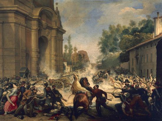 Bologna, Expulsion of Austrians from Porta Galliera, August 8, 1848-Antonio Muzzi-Giclee Print