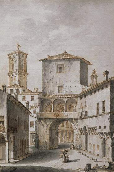 Bologna, Voltone, known as Mezzavacca, One of Gates of City, 1797--Giclee Print
